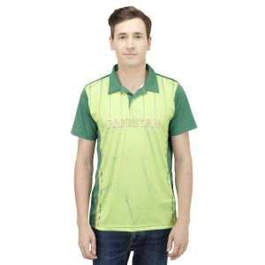 Buy T10 Sports Microfiber Multicolor Pakistan Fan Jersey T Shirt For Men online