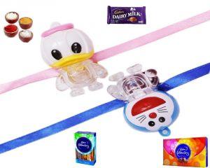 Buy Kids Rakhi-micky Mouse & Doraemon Lighting Rakhi (product Code - Mo6000a) online