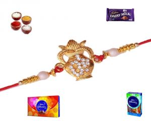 Buy Buy Rakhi Online-auspicious Kundal Rakhi (product Code - Sa1010) online