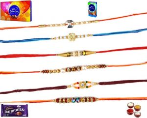 Buy Rakhi Gifts To India-exclusive Set Of Rakhi (product Code - Sa117) online