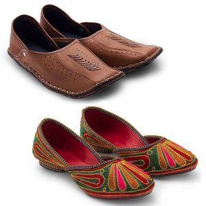 142eca572ee Buy Great Art Men-Women New Design Party Wear Rajasthani Mojari Combo  Online | Best Prices in India: Rediff Shopping