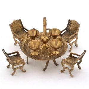 Buy Unique Design Dining Table Chair Maharaja Set -196 online