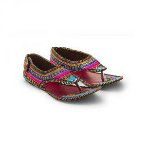 Buy Women Resham Work Multi Color Fashionable Sandals 321 online