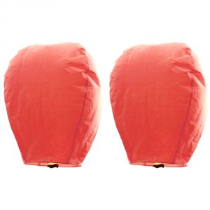 Buy Great Art Set of 2 Peach Color Paper Made Sky Lanterns online