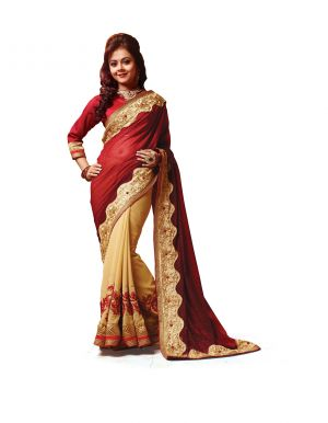 Buy Ridham Fashions Multi Colour Georgette Sarees (product Code - 6841) online