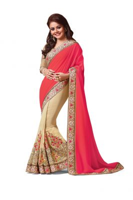 Buy Ridham Fashions Multi Colour Georgette Sarees (product Code - 6845) online