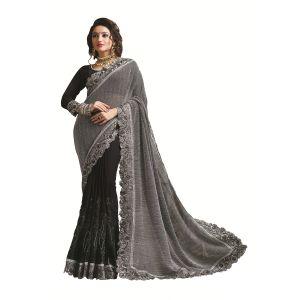 Buy Ridham Fashions Multi Color Georgette Designer Saree 8479a online