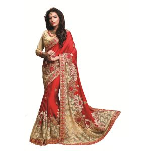 Buy Ridham Fashions Multi Color Georgette Designer Saree 8491 online