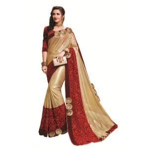 Buy Ridham Fashions Multi Color Georgette Designer Saree online