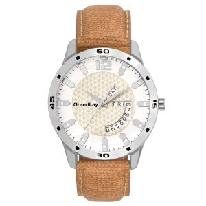 Buy Grandlay Mg-3032 White Dial With Date And Time online