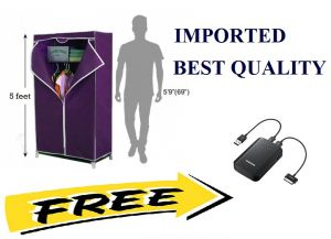 Buy Teledealz Imported Amazing Single Door Foldable Wardrobe With Free Amazing Gifts online