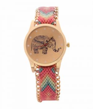 Buy Fap Analog Dori Type Pink Colour Womens Watch online