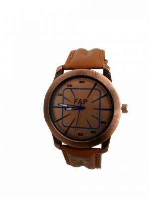Buy Fap Analog Brown Colour Synthetic Mens Watch online
