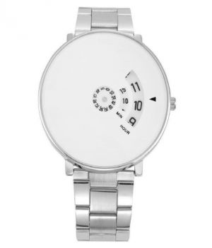 Buy Fap Analog Silver Colour White Dial Mens Watch online