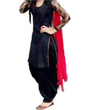 Buy Style Amaze Bollywood Designer Black Color Patiala Salwar Suit(msstyle-3) online