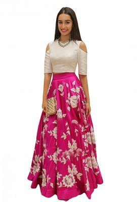 Buy Style Amaze Pink & White Latest Indo-western Lehanga(sasunday-1025) online
