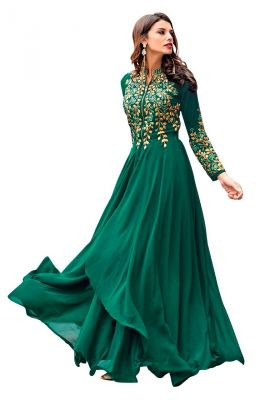 Buy Style Amaze Charming Sea Green Color Georgette Embroidered Floor Length Suit (code -sasunday-2115) online