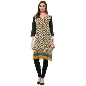 Buy Rangeelo Rajasthan Women's Jaipur Printed Straight Cotton Kurti_rar104yellow online
