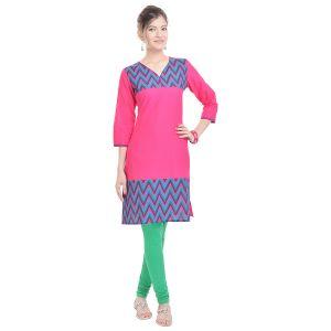 Buy Rangeelo Rajasthan Women's Jaipur Printed Straight Cotton Kurti_rar111blue online