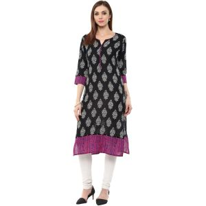 Buy Rangeelo Rajasthan Women's Jaipur Printed Straight Cotton Kurti_rar122pink online