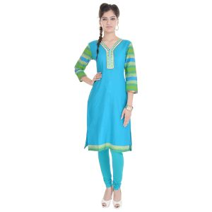 Buy Rangeelo Rajasthan Women's Jaipur Solid Straight Cotton Kurti_rar134green online