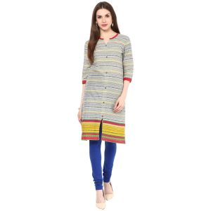 Buy Rangeelo Rajasthan Women's Jaipur Printed Straight Cotton Kurti_rar140red online