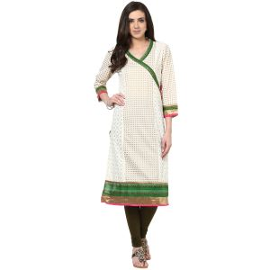 Buy Prakhya Jaipur Printed Womens Long Straight Green Cotton Kurti (code - Sw544green) online