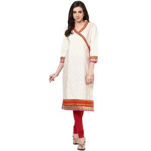 Buy Prakhya Jaipur Printed Womens Long Straight Red Cotton Kurti (code - Sw544red) online