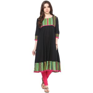 Buy Prakhya Jaipur Solid Womens Long Straight Green Cotton Kurti (code - Sw693green) online