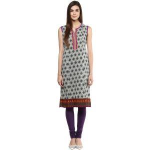 Buy Prakhya Jaipur Printed Womens Long Straight Purple Cotton Kurti (code - Sw728purple) online