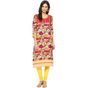 Buy Prakhya Jaipur Printed Womens Long Straight Purple Cotton Kurti (code - Sw758purple) online