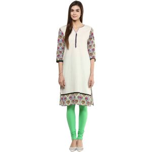 Buy Prakhya Jaipur Printed Womens Long Straight Green Cotton Kurti (code - Sw763green) online