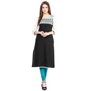 Buy Prakhya Jaipur Embroidered Womens Long Straight Green Flex Kurti (code - Sw836green) online