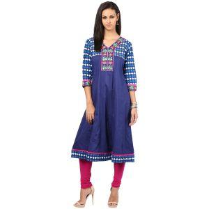 Buy Prakhya Jaipur Embroidered Womens Long Straight Rayon Kurti (code - Sw839pink) online