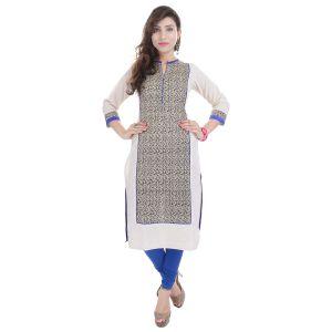 Buy Prakhya Jaipur Printed Womens Long Straight Blue Flex Kurti (code - Sw843blue) online