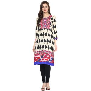Buy Prakhya Jaipur Printed Womens Long Straight Pink Cotton Kurti (code - Sw865pink) online
