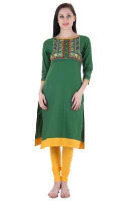 Buy Prakhya Embroidered WoMen's Long Straight Flex Kurta online