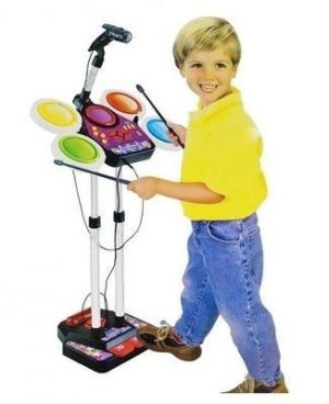 Buy Junior Electronic Drum Set With Real Effect Playing Kids Toy online