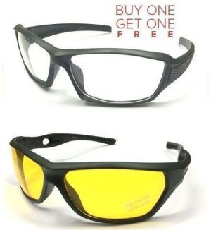 Buy Buy 1 New Sporty Biker Style & Get 1 Transparent Biker Sunglass Free online