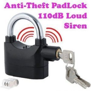 Buy Theft Burglar Pad Lock Alarm Security Siren Home Office Bike Bicycle Shop online
