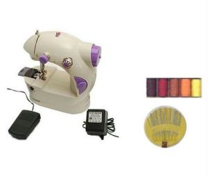 Buy Premium Quality Mini Sewing Machine With Foot Pedal And Power Adapter online