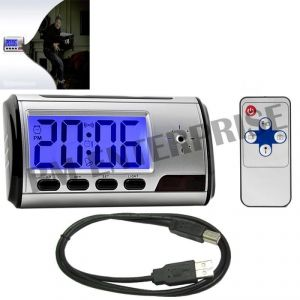 Buy Spy Digital Clock Hidden Camera With Digital Audio Video Recorder With USB Cable online
