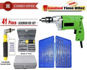 Buy Special Combo Offer! Shopper52 Drill Machine Drill Bit Set 41pcs Tool online