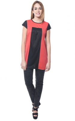 Buy Visach Solid Top For Girls For Casual Wear_Black-Red online