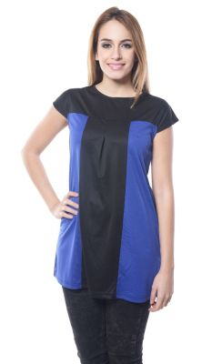 Buy Visach Solid Top For Girls For Casual Wear_vs_top2012_blk-blu online