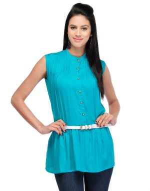 Buy Visach Solid Top For Girls For Casual Wear_vs_top2016_grn online