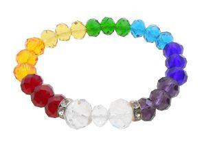 Buy Bright Seven Chakra Crystal Healing Balancing Reiki Healing Faceted Beads Bracelet(jdh-1-jw0006) online