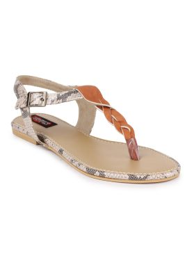 Buy Naisha Women's Synthetic Leather Pink Flat Sandals (code - Sc-mk-26-pink) online