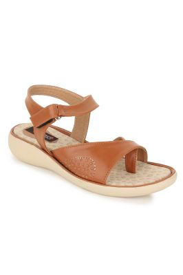 Buy Naisha Women's Synthetic Leather Beige Flat Sandals (code - Sc-nk-303-beige) online