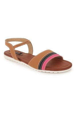Buy Naisha Women's Synthetic Leather Beige Flat Sandals (code - Sc-nk-305-beige) online